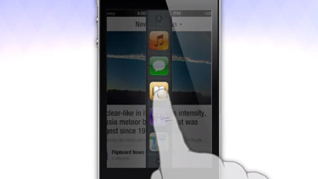 Nuevo concepto del cambio entre aplicaciones en iOS obra del diseñador de Auxo