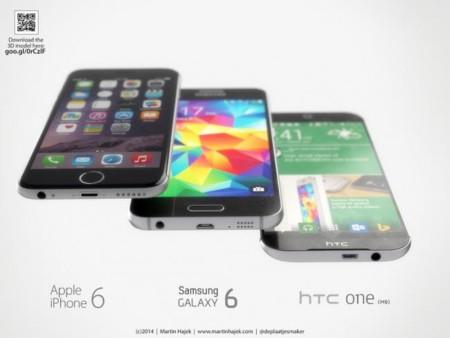 Samsung Galaxy S6, HTC One M9 e iPhone 6: es la hora de conseguir el mejor diseño metálico