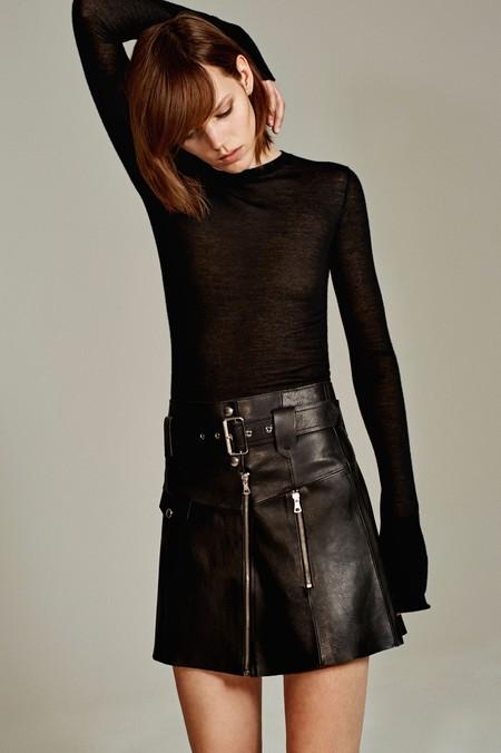 Minifalda Piel Zara Studio 2016
