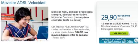 Movistar rebaja el precio de sus 20 Megas: 29,90 euros al mes para siempre si eres cliente de contrato móvil