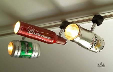 Recicla objetos cotidianos para crear tus propias lámparas