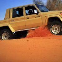 Este es el Toyota Land Cruiser del desierto que no teme al Mercedes G63 AMG 6x6
