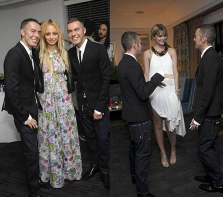 dsquared2 party lohan richie barton 1
