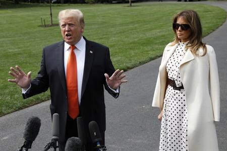 No busques más: Melania Trump tiene el perfecto look de comunión (con vestido de lunares, obviamente)
