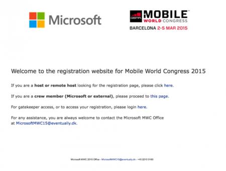 Microsoft anuncia su participación en el MWC 2015