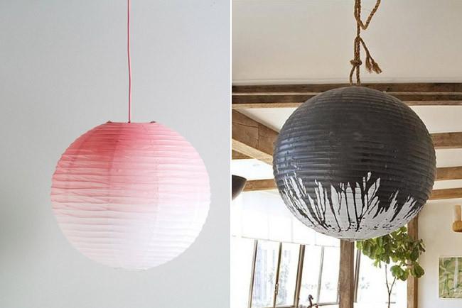 Tres buenas ideas para personalizar tus l mparas de papel for Decoracion de lamparas