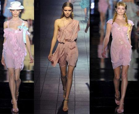 Mini-vestidos rosas