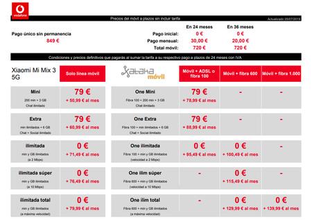 Precios Xiaomi Mi Mix 3 5g A Plazos Con Tarifas Vodafone