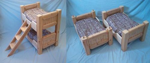 Literas y camas gemelas para mascotas for Camas para perros de madera