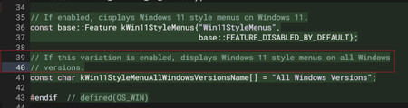 fragmento del código