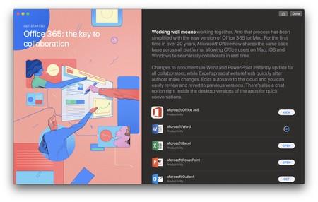Si tenías la suite de Microsoft Office, es hora de descargarla desde la Mac App Store