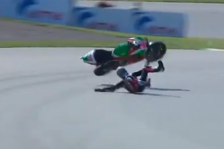 Aleix Espargaró será baja en la carrera de MotoGP en Alemania tras una dura caída en el warm-up