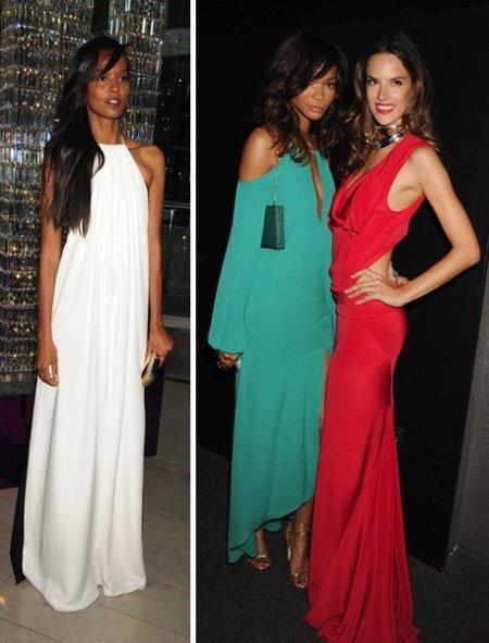 Chanel Iman premios CFDA 2011