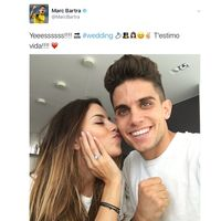 Love is in the air: Marc Bartra y Melissa Jiménez están prometidos y se ha casado Shia LaBeouf