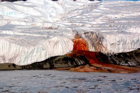 """Blood Falls, el extraño fenómeno por el que la Antártida vomita """"cataratas de sangre"""""""