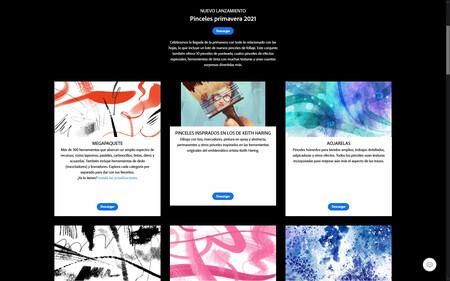 Pinceles gratuitos de Adobe