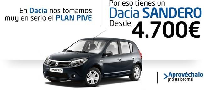 Oferta Dacia Plan PIVE