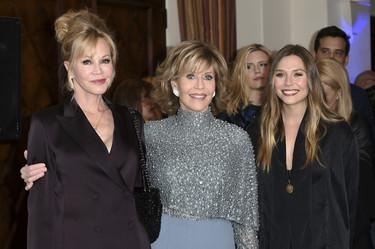 Jane Fonda, Melanie Griffith y Elizabeth Olsen juntas demostrando que esta perfecta a cualquier edad es posible
