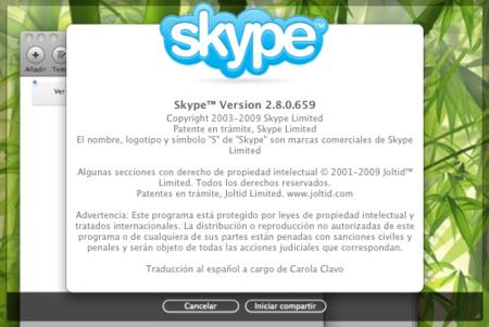 Skype 2.8 para Mac OS X, ahora con pantalla compartida