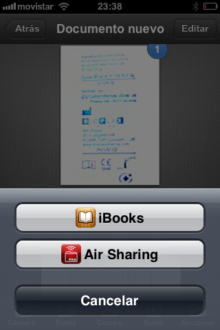 También podemos abrir los documentos con aplicaciones que tengamos instaladas