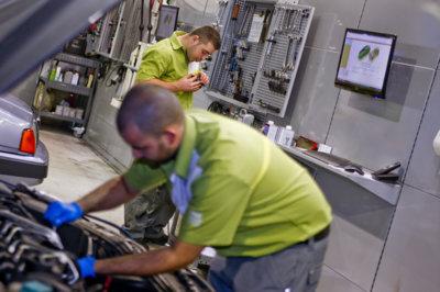 Un 52,1 % de las visitas al taller se concentran en los primeros cinco años del coche