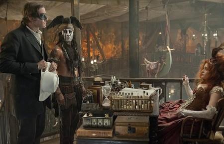 Armie Hammer, Johnny Depp y Helena Bonham Carter