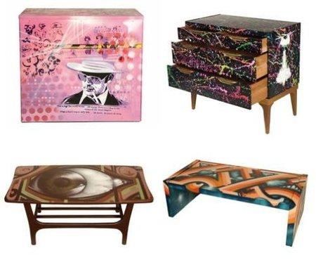 muebles con graffitis 2