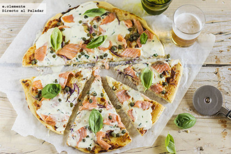 Pizza Salmon Mascarpone