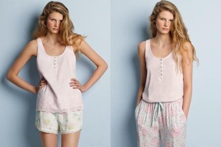 oysho pv 2014  pijama rosa flores
