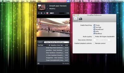 CloudPlay, el Spotlight musical para reproducir canciones desde YouTube, SoundCloud y otros