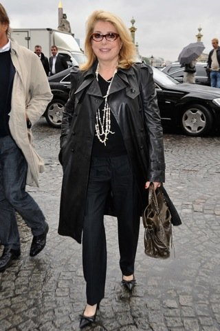 Catherine Deneuve  Semana de la Moda de París