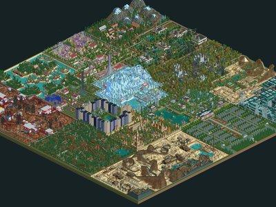 Un fan ha pasado 10 años montando el parque de atracciones definitivo de Rollercoaster Tycoon 2