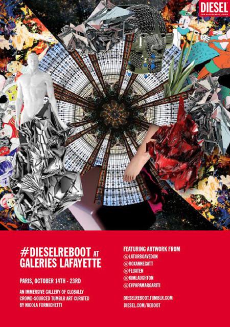 Nicola Formichetti y Diesel empapelan los escaparates de las Galerías Lafayette con obras de arte