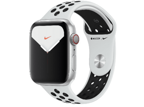 Apple Watch Nike Series 5, Chip W3, 44 mm, GPS + Cellular, Caja aluminio plata,