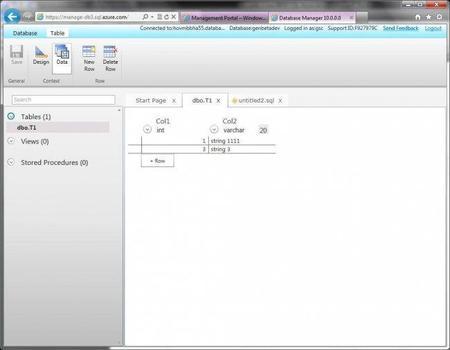 SQL Azure - Database Manager