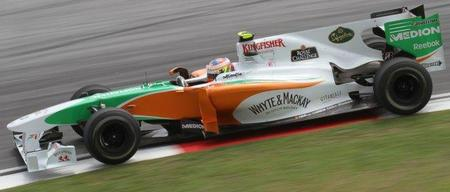 Adrian Sutil y Paul di Resta, pilotos de Force India en 2011