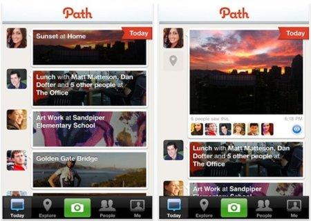 Path, la antiredsocial llega al iPhone e iPod touch