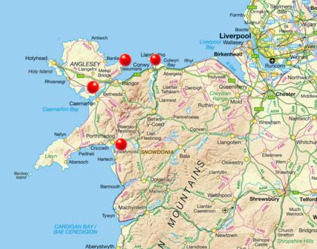 Mapa Gales