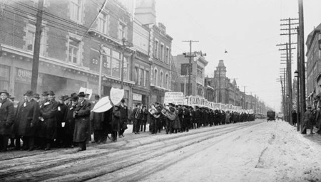 One Half Mile Of Barmen Along Yonge Street During The Prohibition Parade