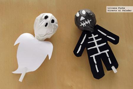 Cómo disfrazar chupa chups de fantasmas y esqueletos para Halloween