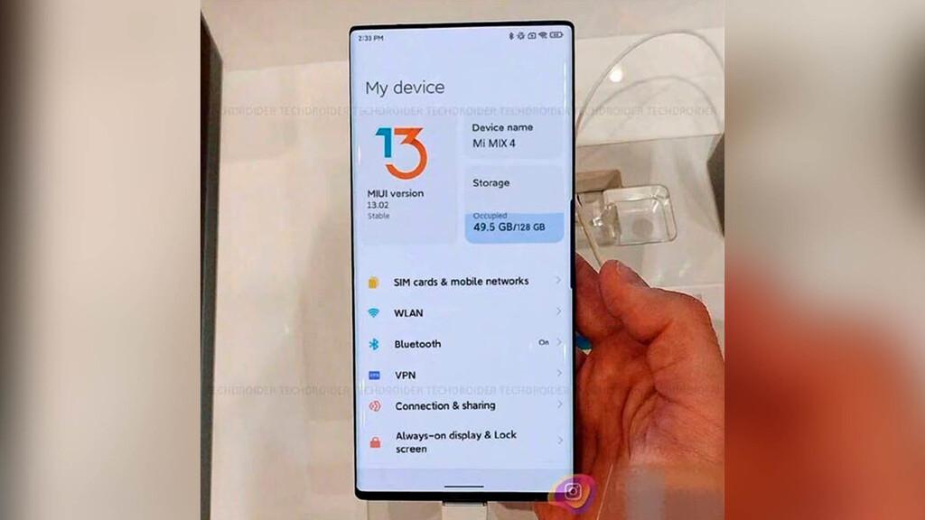 El Xiaomi Mi Mix 4 incorporará una batería de 5.000 mAh con carga rápida de hasta 120W, según filtraciones
