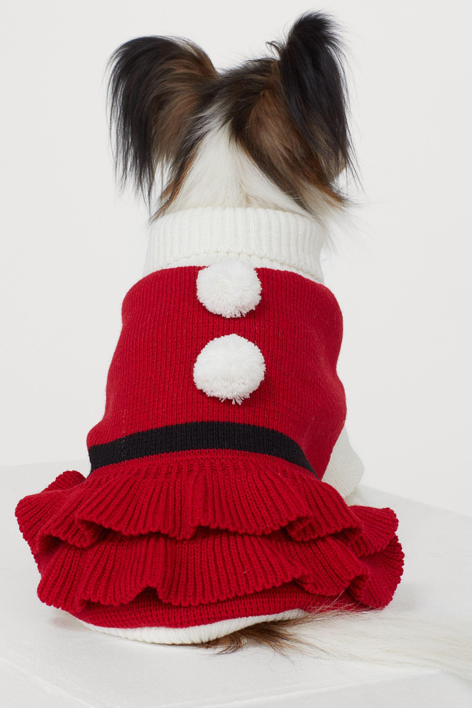 Vestido navideño con volantes y pompones