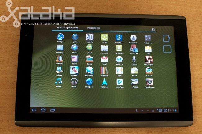 análisis para xataka del Acer iconia tab A500