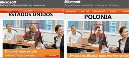 Imagen de la Semana: El polémico anuncio de Microsoft en Polonia