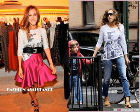 Sarah Jessica Parker en la Fashion Night Out de Nueva York