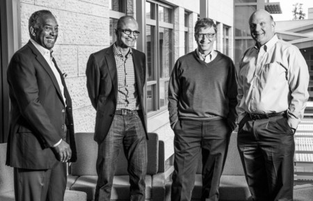 John Thompson, Satya Nadella, Bill Gates y Steve Ballmer