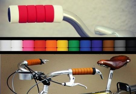 Manillares multicolor para ciclistas urbanos con estilo