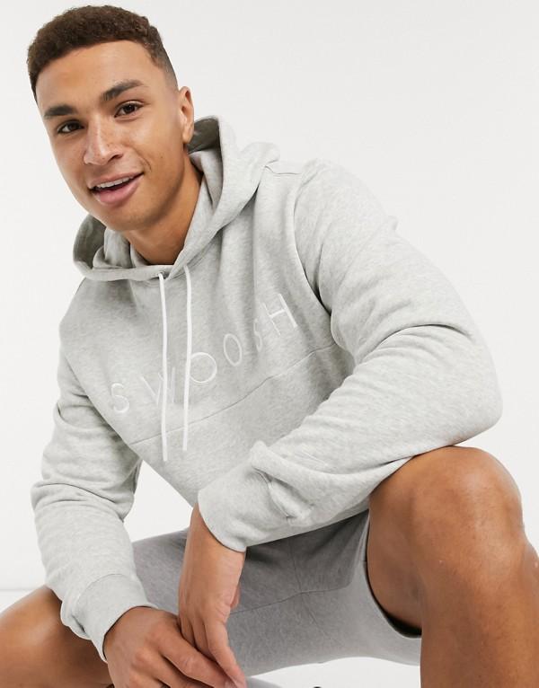 Sudadera con capucha gris y logo de Nike
