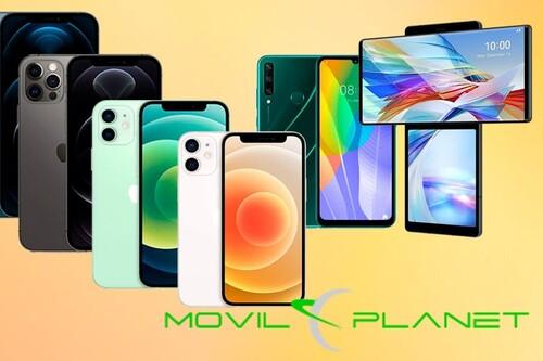 Ofertones en smartphones en MovilPlanet: iPhone 12 Pro, Pro Max, Mini, LG Wing o Huawei Y6P superrebajados