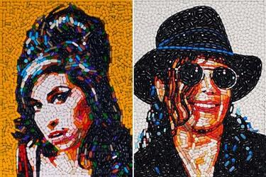 Retratos de celebridades elaborados por Jason Mecier con comida